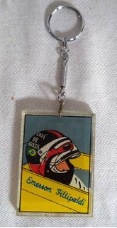 Chaveiro Emerson Fittipaldi Piloto Fórmula 1 Anos 70