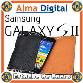 Estuche Cuero Con Clip Samsung S2 Funda Forro Protector