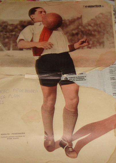 River Plate -poster Antiguo - Adolfo Pedernera