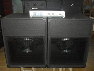 2bafles Sub 1810 400w Rms 2400w+potencia1600w Apx1200