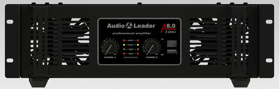Amplificador De Potência Audio Leader Al8.0 8.000 Watts Rms