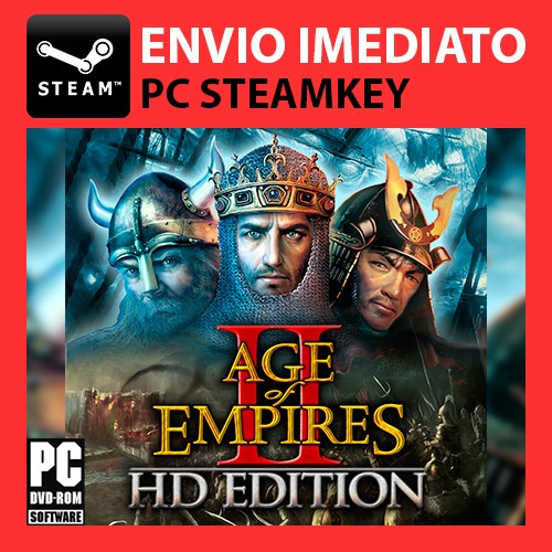 Age Of Empires 2 Hd Pt-br Multiplayer Steam Key Pc Original