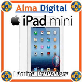 Protector Pantalla iPad Mini Transparente Antireflejo + Paño