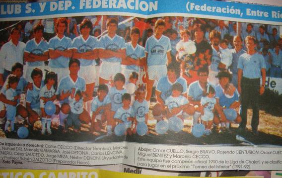 Social Federacion De Federacion - Entre Rios -poster Antiguo