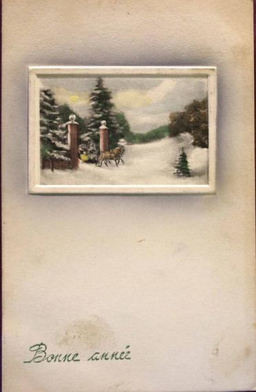 Antigua Postal Francesa Bonne Anné 1914 - (150505)