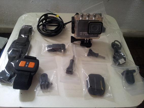 Câmera Similar Go Pro De Alta Qualidade Filma Fullhd 1080p