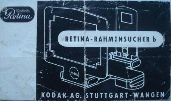 Manual Kodak Retina Visor