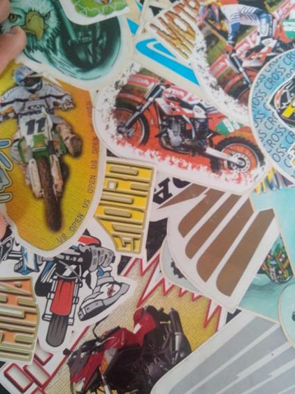 Lote Kit Com 20 Adesivos Moto Frete Gratis Motoqueiro