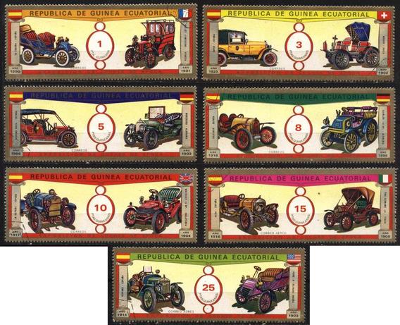 1171 Carros Antiguos Guinea Ecuatorial 7 P Cto N H De Los 80