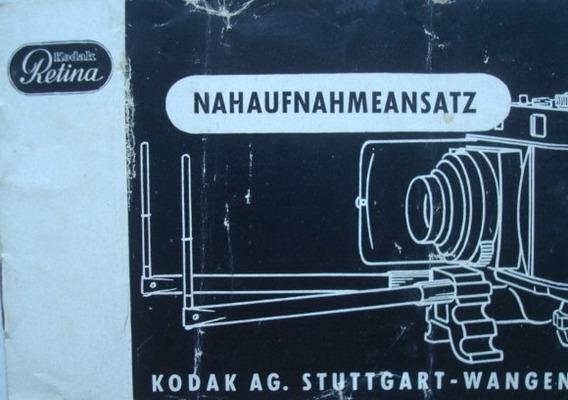 Manual Kodak Retina Gabarito Para Macrofotografia