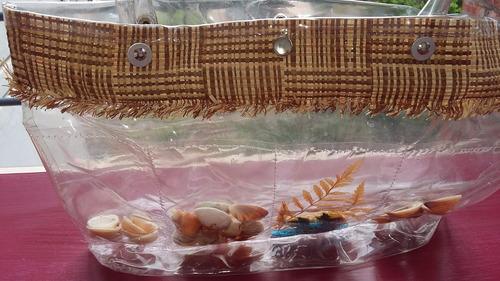 Bolso Transparente C Caracoles Mar  Ideal Playa Pile