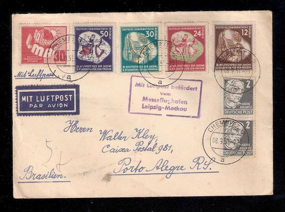 Alemanha Oriental(ddr)-c/selos Mi.289/92. Datada 8.9.1951