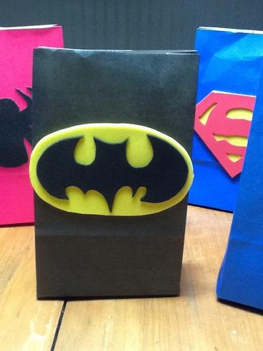 Bolsitas Batman Artesanales Pack 10 Unidades