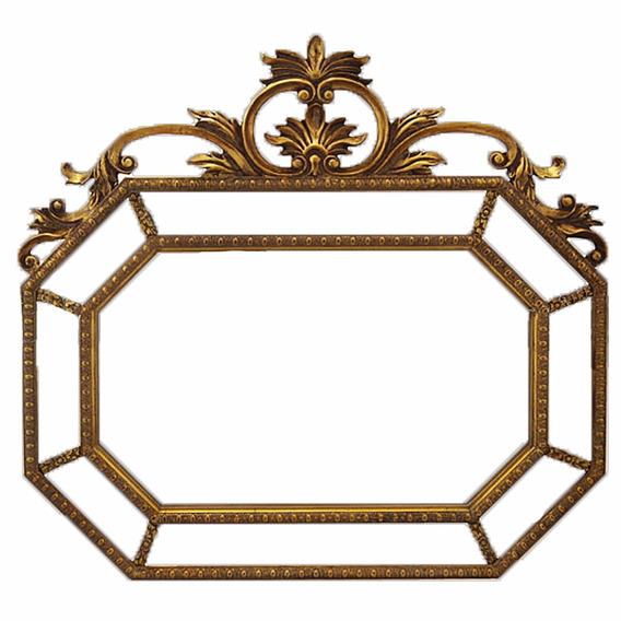 Espelho Moldura Em Madeira Ouro Envelhecido