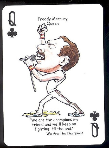 Queen Carta Baralho Freddie Mercury - Frete Grátis