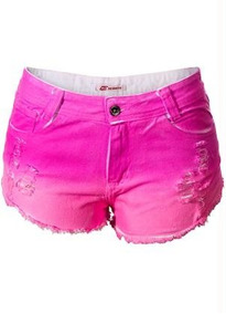 Shorts With Tie-dye Effect (rosa)