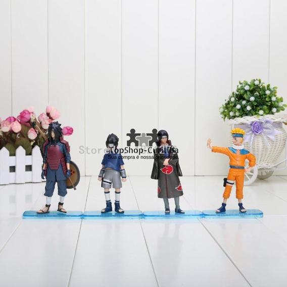 Naruto Kit 4 Bonecos Sasuke Itachi Madara Figuras De Ação