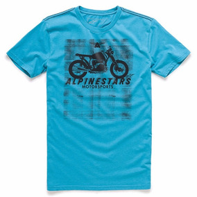 Camiseta Alpinestars Am Ride Azul Oferta Natal