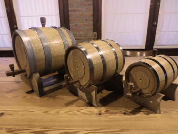 Barriles Toneles Barricas Chopp P/vinos De Roble De 5lts