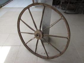 Roda De Carroça Antiga De Ferro;charrete;carro De Boi