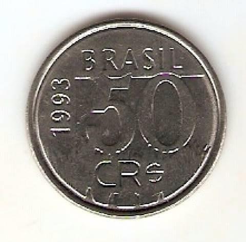 Moeda De 50 Cruzeiros Do Ano De 1993