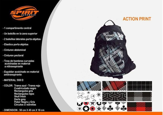 Mochilas Urbanas Spirit Action Print 50x40x18 Cm + Colores