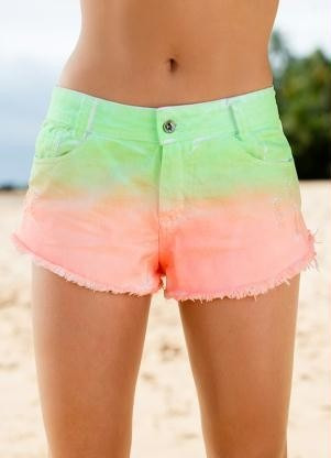 Shorts With Tie-dye Effect (verde)