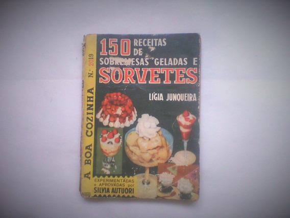Livro Antigo De Receitas Geladas Da Vovó