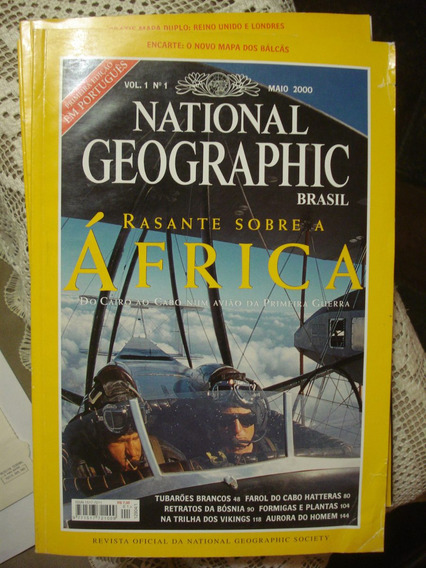 Primeira Edição Da Revista Natiolal Geographc Em Portugrues