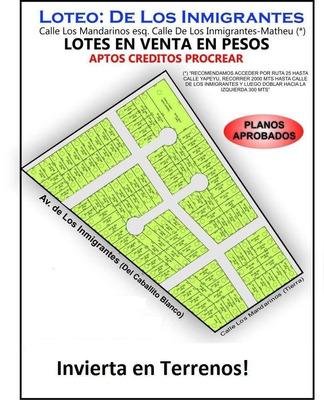 Loteo En Escobar En Pesos, Aptos Creditos Pro.cre.ar