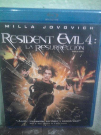 Blu Ray Resident Evil 4 Resurrección Terror Ciencia Ficción