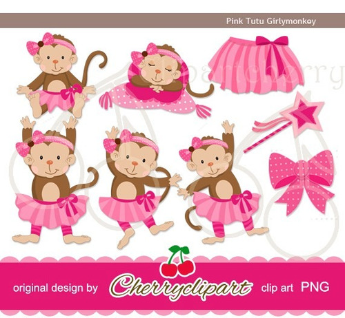 Kit Imprimible Monitos Nena Imagenes Clipart Cod 6