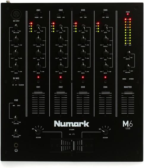 Numark M6 - Mixer 4 Canais