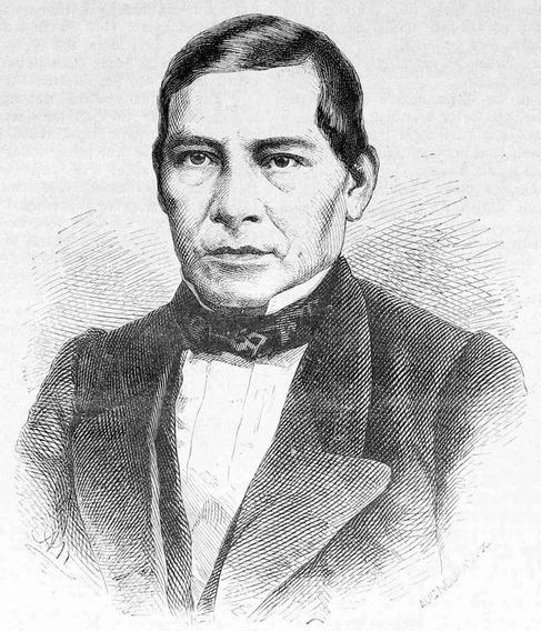 Lienzo Tela Canvas Grabado Benito Juárez García 1867 60 X 50