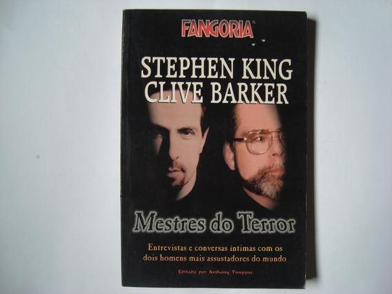 Livro Mestres Do Terror - Stephen King E Clive Barker