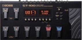 Pedaleira Boss Gt-100 | Multiefeitos | Guitarra | Top