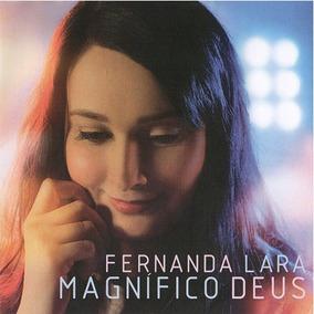 Cd Duplo Magnífico Deus Fernanda Lara C/ Playback Novo Tempo