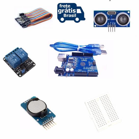 Kit Placas Para Arduino Uno +sensor +time Clock+ Relé+ Cabos