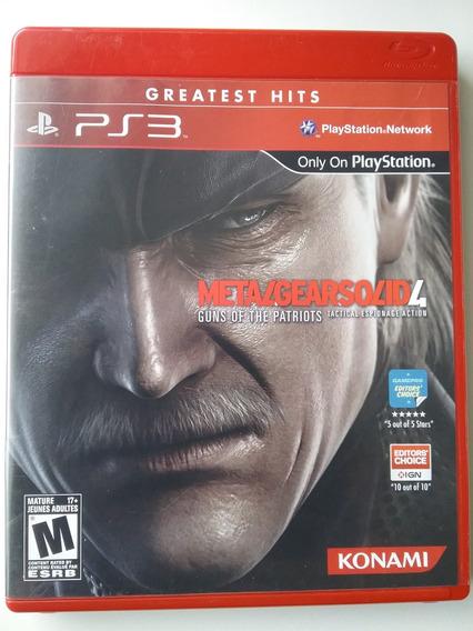 Metal Gear Solid 4 Para Ps3 Mídia Física Original Perfeito