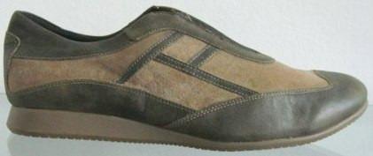 Prune Zapatos 40 Cuero Vaca Verde Gamuza Marron (ana.mar)