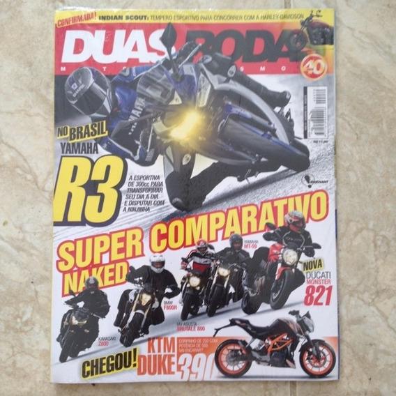 Revista Duas Rodas N479 Ago2015 - Yamaha R3 Mt-09 Bmw F800r