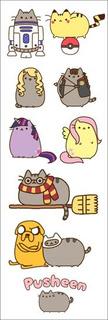 Plancha De Stickers De Pusheen (2) Super Cute!
