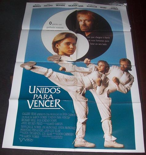 Cartaz/poster Cinema Filme Unidos Para Vencer - Chuck Norris | Mercado Livre
