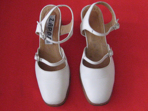 Zapato Blanco, Cuero, Zappa Original Shoes, Talla 36
