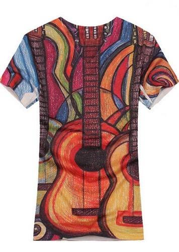 Camisa Camiseta Curta Masculina Estilo Casual 100% Algodão