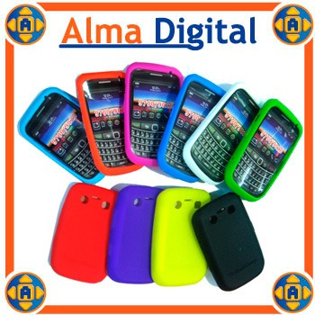 2x1 Forro Silicon Blackberry Bold 2 9700 9780 Estuche Goma
