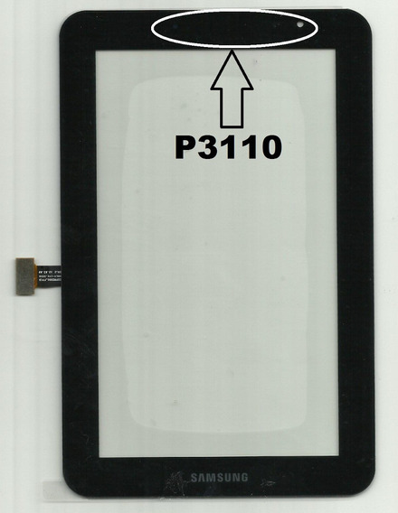 Tela Touch Tablet Samsung P3110 Preta Galaxy Tab 2 - 7.0