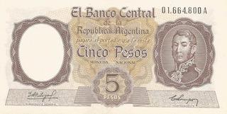 Billete 5 Pesos Moneda Nacional De 1960 Sin Circular