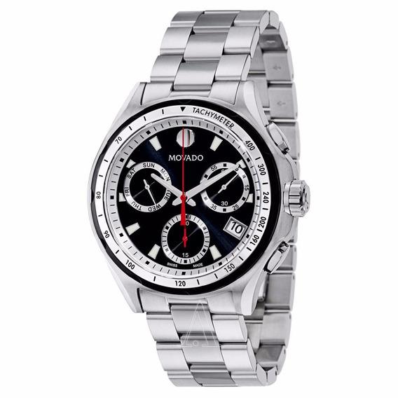 Relógio Masculino Movado, Série 800, Aço Inoxidável- Novo