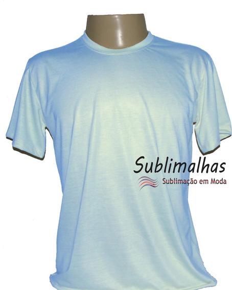 6 Camisas Para Sublimação Branca Cores Claras 100% Poliéster